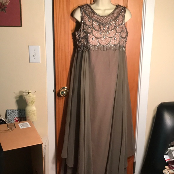 Vintage Beaded Evening Dress